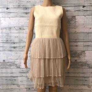 English Factory Sleeveless Deep V Boatneck Dress